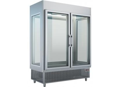 Upright Refrigerated Display 2 Doors - glass on all four sides